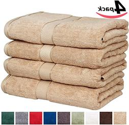 Premium Large Bath Cotton Towels Pack Champaign - 100% Cotto
