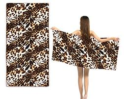 Ace Select Extra Large Bath Towel Chic Leopard Print Extra-a