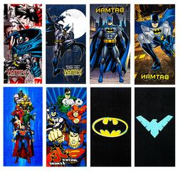 "Batman DC Comics Beach Towel in 8 Design 100% Cotton 28""x58"""