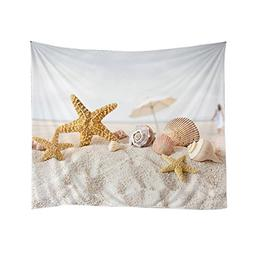 Xinhuaya Beach Decor Collection,Starfish Sea Shell Printed i