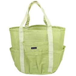 Zoie + Chloe Beach Mesh Tote Bag - 8 Pockets, Zipper, Key Ho