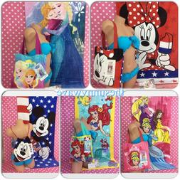 DISNEY BEACH POOL SLEEPOVER BATH SLEEPOVER TOWEL AND TOTE ST