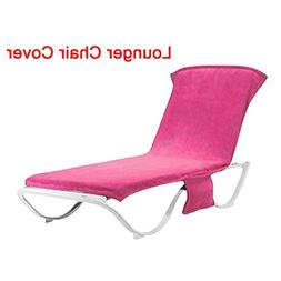 INLAR Beach Recliner Covers with Pockets Patio Chaise Lounge