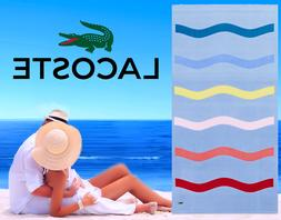 "LACOSTE BEACH TOWEL 36"" x 72"" BRAND NEW WITH TAGS CROC 100%"