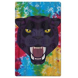 SARA NELL Adults Beach Towel Angry Black Panther Tie-die Qui