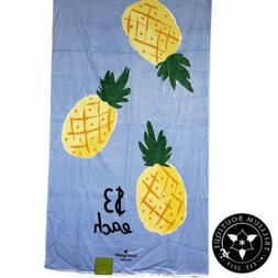 beach towel blue pineapples 40 inches 70