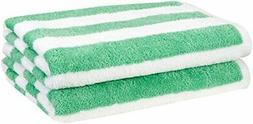 beach towel cabana stripe green pack of