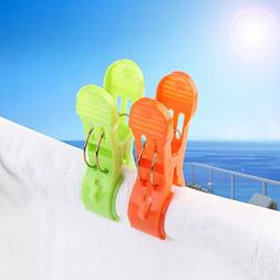 Beach Towel Clips Jumbo Size for Beach Chairs/Pool Lounges/C