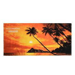 Hawaii Beach Towel 100% Cotton 60x30 Red Sunset Scenic Diamo