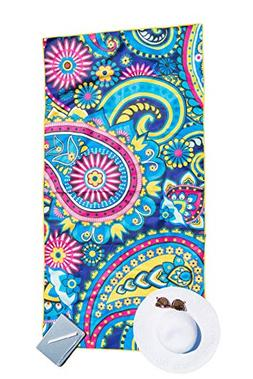Bondi Safari Beach Towel for Travel - Microfiber, Quick Dry,