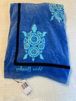 "Vera Bradley Beach Towel in Marine Turtles Pattern 33""x 66"""