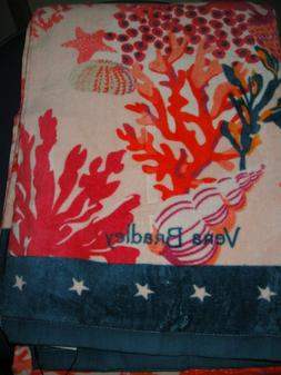 "VERA BRADLEY BEACH TOWEL in the CUTE ""SHORE THING CORAL"" PAT"