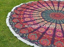 Beach Towel Indian Throw Mandala Round Roundie Hippy Boho, 1
