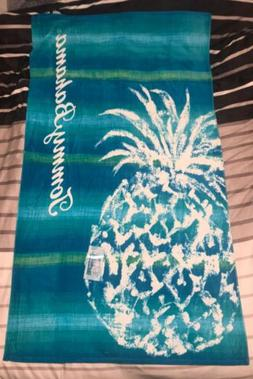 Tommy Bahama Beach Towel Large 40 in X 70 in 100% Cotton Pin