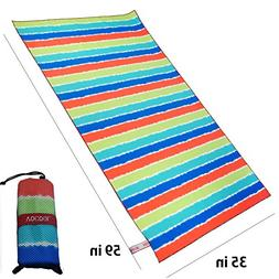 ZOMCHAIN Beach Towels Microfiber Quick Dry Sand Free Lightwe
