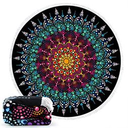 Ricdecor Beach Towel Large Mandala Beach Towel Blanket with