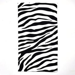Beach Towel Oversized Zebra Stripe Print 40x70 in Microfiber