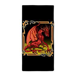 Beach Towel Red Dragon Gold Tapestry
