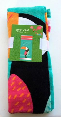 "Planet Sox Beach Towel Toucan ""Beach Please "" 27 x 58"" - New"