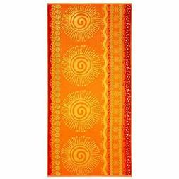- Beach Towels 2-Pack XL Jacquard Woven Velour 39x68 Inches