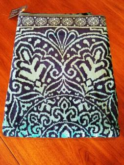 Beach towels extra large Navy & Green medallion pattern