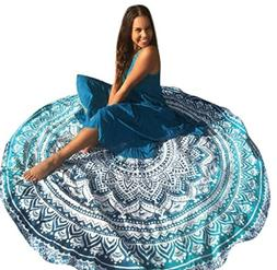 Gloous Large Beach Towels Round Quick Dry Lightweight Smooth