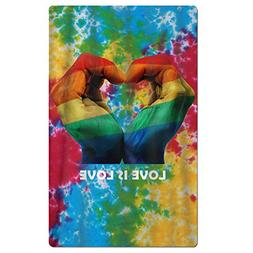 Yausend Adults Beach Towels Tie Dye Peace Love Is Love Gay &