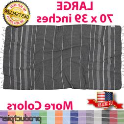 Best Turkish 100% Cotton Towel Fouta Peshtemal for Beach Bat