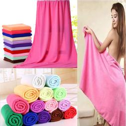 Big Absorbent Microfiber Hair Drying Bath Beach Towel Washcl
