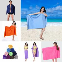 Big Bath Towel Quick-Dry Microfiber Sports Beach Swim Travel