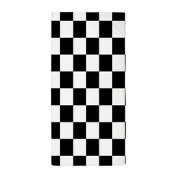 CafePress Black: Checkered Pattern Beach Towel