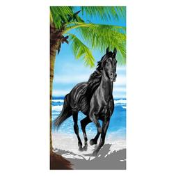 Black horse design fashion bathroom <font><b>towel</b></font