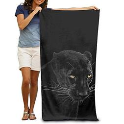 REBELN Black Panther Pattern Soft Bath Towels, Large Microfi