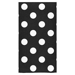 InterestPrint Black and White Polka Dot Beach Bath Towels Ba