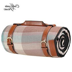 Picnic Blanket Extra LARGE LUXURIOUS Outdoor Blanket 87 Inch