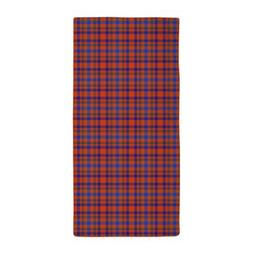 CafePress Blue And Orange Plaid Beach Towel