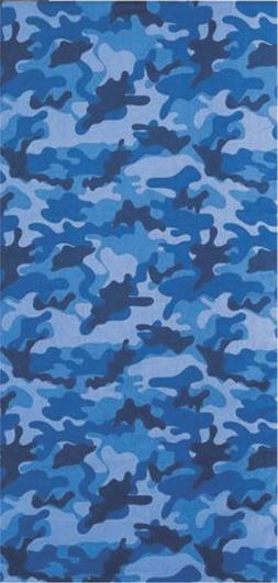 Blue Camouflage Brazilian Velour Beach Towel 30x60 inches