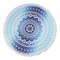 Unique Warm Blue Circle Oversized Beach Towels Blanket With