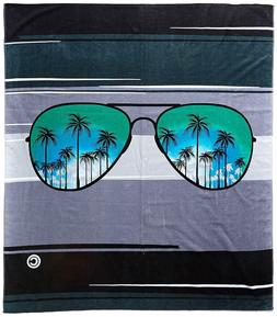 KAUFMAN - Blue Sunglasses Beach And Pool Towel -2 PK SET 30""