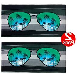 "KAUFMAN - Blue Sunglasses Beach Towel  30"" x 60"" - 2 Pack Se"