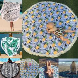 Bohemian Mandala Round Beach Tapestry Hippie Throw Yoga Mat