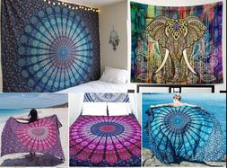 Bohemian Mandala Round Tapestry Beach Hippie Throw Yoga Mat