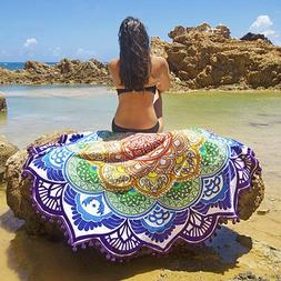 Boho Round Hippie Tapestry Beach Throw Tassels Indian Mandal