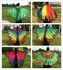 Butterfly/Peacock Beach Towel Blanket Camping Picnic Shawl S