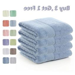 Buy 3 Get 1 Free, Large Egyptian Cotton Bath Towels Soft Lux