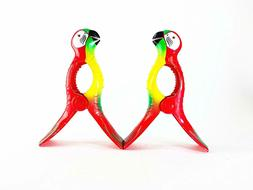 C&H Solutions Parrot Flip Style Jumbo Size Beach Towel Clips
