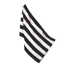 robesale Cabana Beach Towel, Black, Set of 1