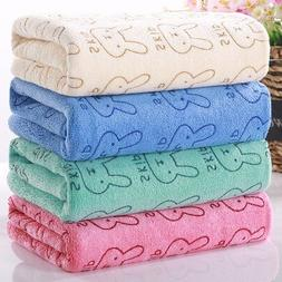 Cartoon 100% Cotton Solid Bath <font><b>Towel</b></font> <fo