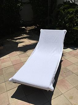 Chaise Lounge Chair Cotton Towel with Flap  -
