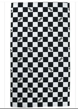 Vans Checkerboard Beac Beach Towel One Size Black-White Chec